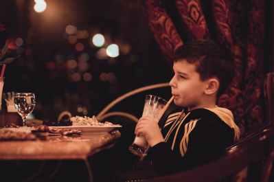 boy child drink eat